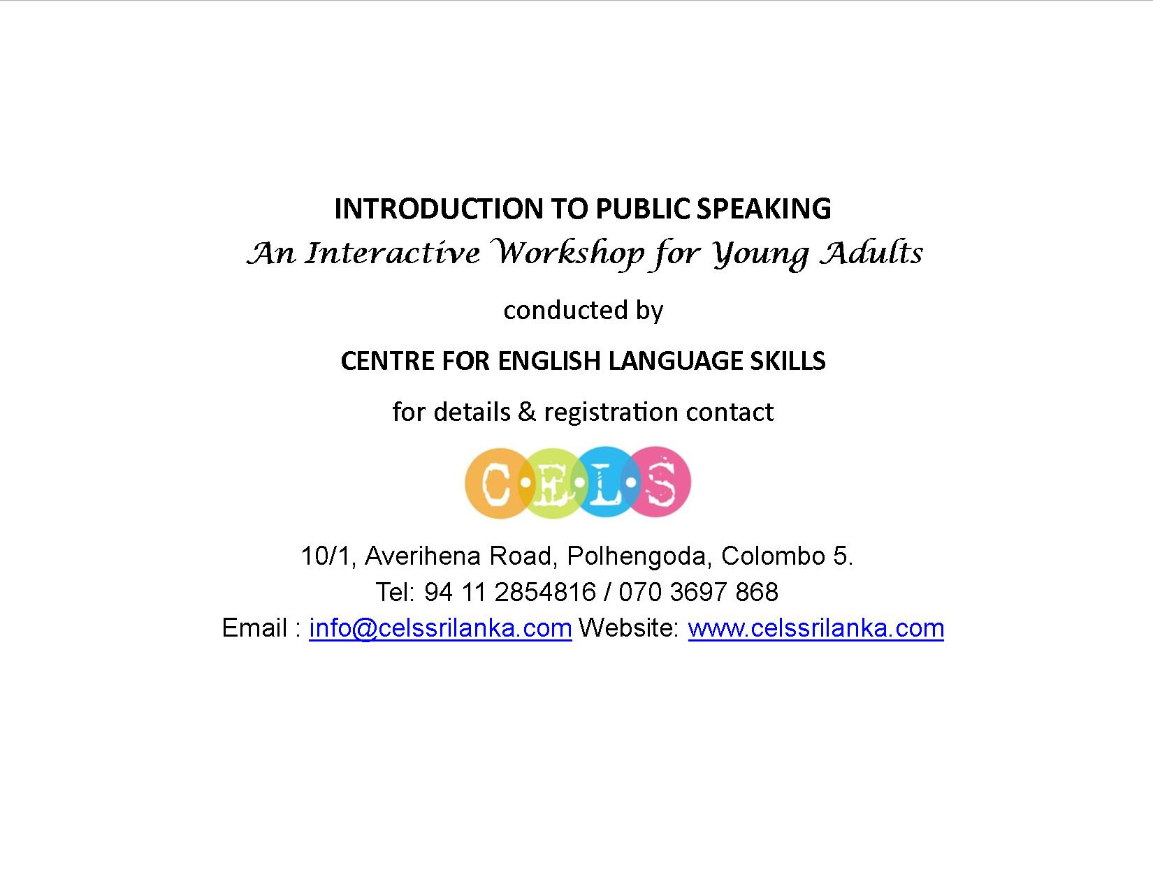 Public Speaking For Young Adults